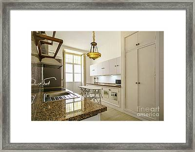 Framed Print featuring the photograph Kitchen Apartment In The Heart Of Cadiz by Pablo Avanzini
