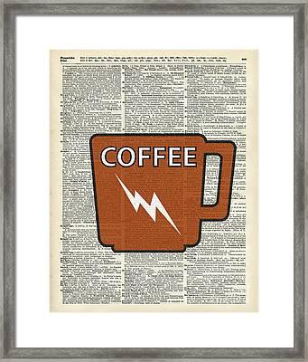 Kitchen Art - Power Coffee Framed Print