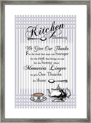 Framed Print featuring the digital art Kitchen Blessing by Robin-Lee Vieira