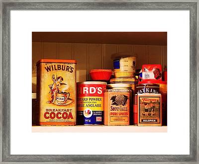 Kitchen Collection Framed Print by Karen Cook