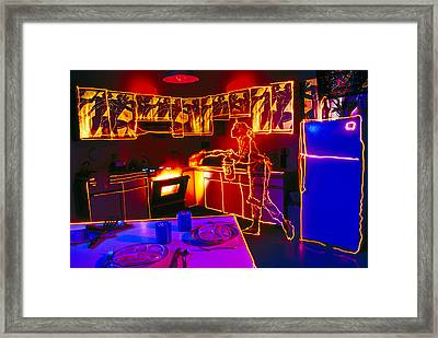 Kitchen Fire Framed Print by Garry Gay