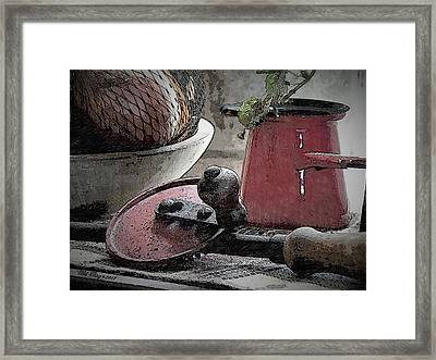 Kitchen Flotsam Framed Print