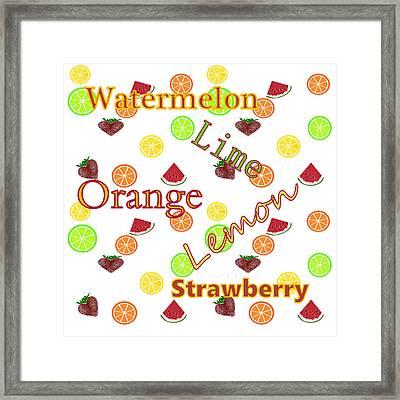 Kitchen Fruit Framed Print