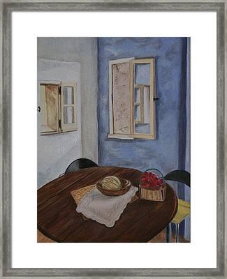 Kitchen In Les Baux Framed Print by Cynthia Ablicki
