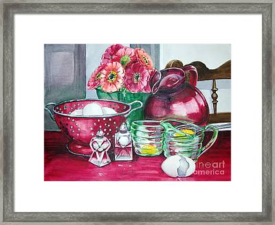 Kitchen Kitsch Framed Print