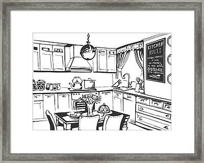 Kitchen Framed Print by Mariyana Paskaleva