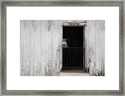 Kitchen Of An Old House, Helen Keller Framed Print