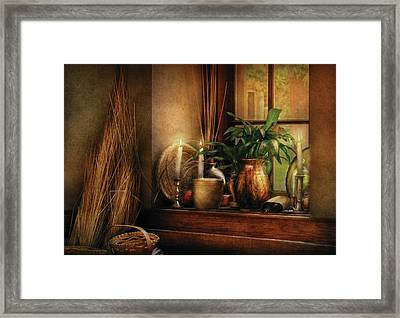 Kitchen - One Fine Evening Framed Print by Mike Savad