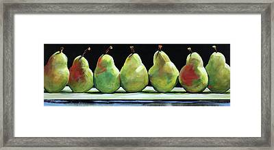 Kitchen Pears Framed Print by Toni Grote