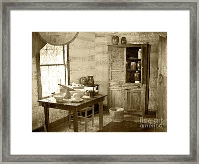 Framed Print featuring the photograph Kitchen by Pete Hellmann