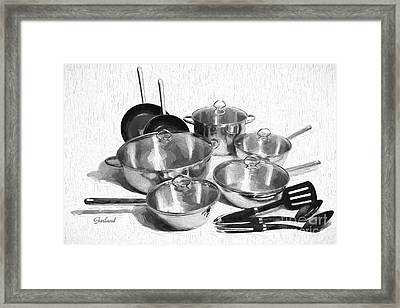 Kitchen Pots And Pans Framed Print