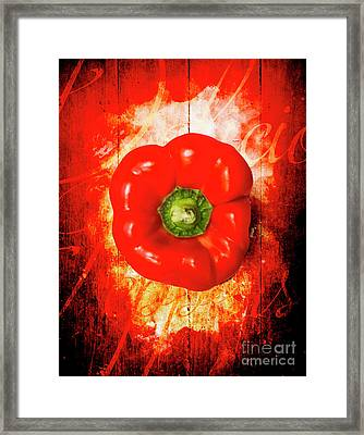 Kitchen Red Pepper Art Framed Print
