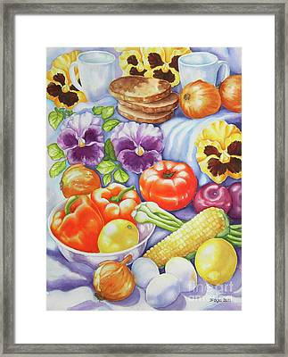 Kitchen Symphony Framed Print