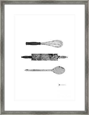 Kitchen Utensils Set Kitchen Decor Framed Print by Joanna Szmerdt