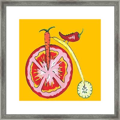 Kitchen Vegetable Art Framed Print