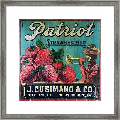 Kitchen - Vintage Strawberry Sign Framed Print by Paul Ward