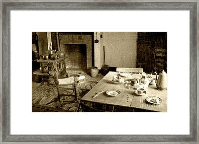 Framed Print featuring the photograph Kitchen Work Area by Pete Hellmann