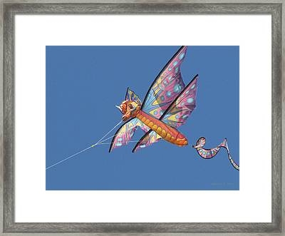 Framed Print featuring the photograph Kite 1 by Maciek Froncisz