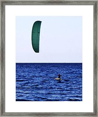 Kite Board Framed Print