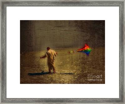 Kite Flying As Therapy Framed Print by Jeff Breiman
