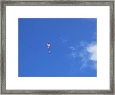 Kite Flying  Framed Print by Carol McCutcheon