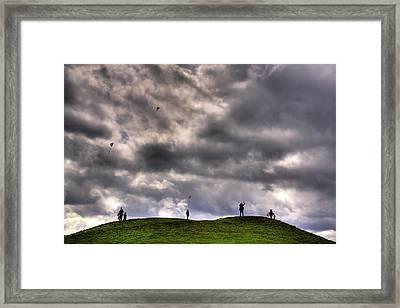 Kite Flying Framed Print by David Patterson