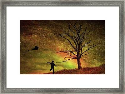 Kite Flying Framed Print