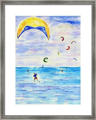 Kite Surfer Framed Print by Jamie Frier