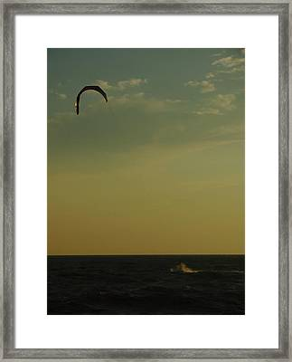 Kite Surfer Framed Print by Juergen Roth