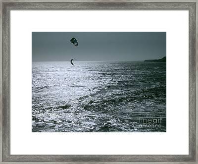 California Kite Surfers Framed Print