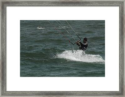Kite Surfing 28 Framed Print by Joyce StJames
