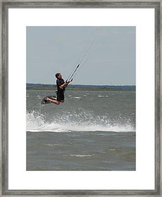 Kite Surfing 31 Framed Print by Joyce StJames