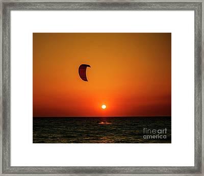 Kite Surfing Framed Print by Jelena Jovanovic