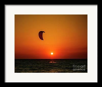 Kite Boarding Framed Prints