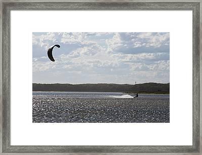Framed Print featuring the photograph Kiteboarding by Miroslava Jurcik