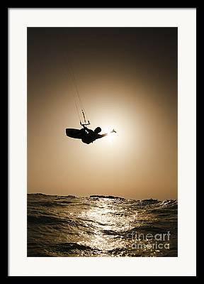 Para Surfing Framed Prints