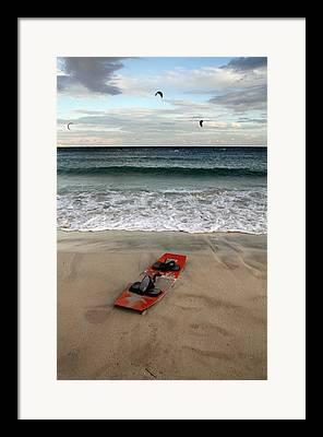 Kiteboarding Framed Prints