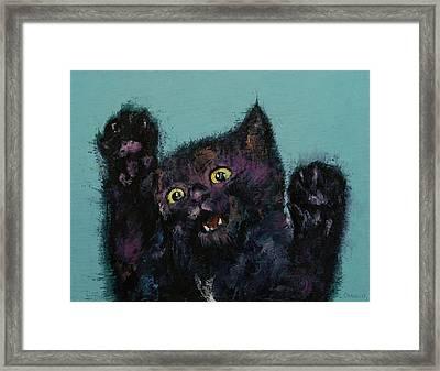 Ninja Kitten Framed Print