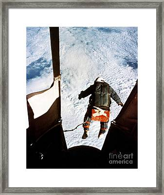 Kittinger Framed Print by SPL and Photo Researchers