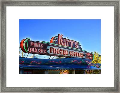 Kitts Frozen Custard Stand Framed Print