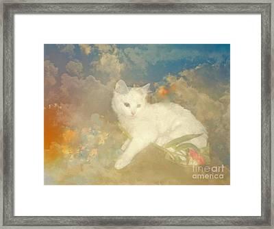 Kitty Art Precious By Sherriofpalmsprings Framed Print