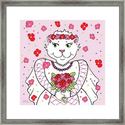 Kitty Bride Framed Print