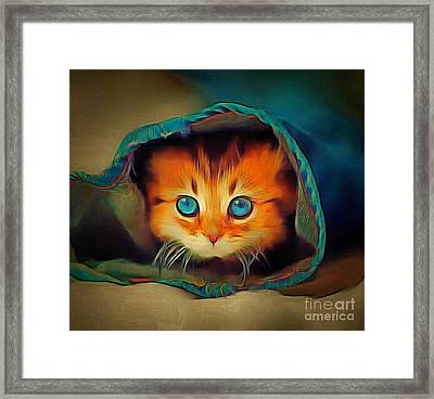 Kitty Britches Framed Print