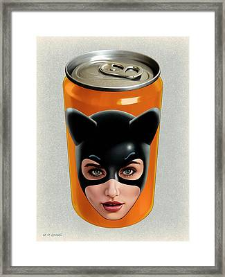 Kitty Can 2 Framed Print