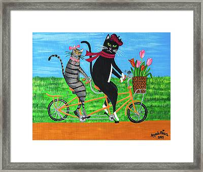Kitty Cat Outing Framed Print