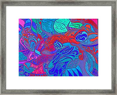 Kitty Duck Framed Print by Jessica Morgan