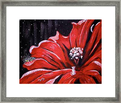 Framed Print featuring the painting Kitty Flower by Phyllis Kaltenbach