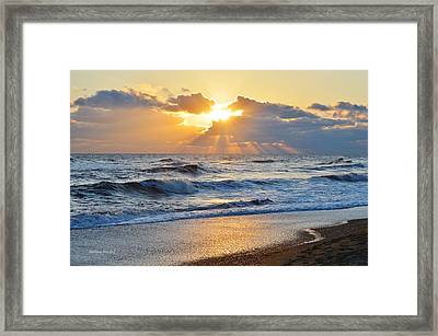 Kitty Hawk Sunrise Framed Print