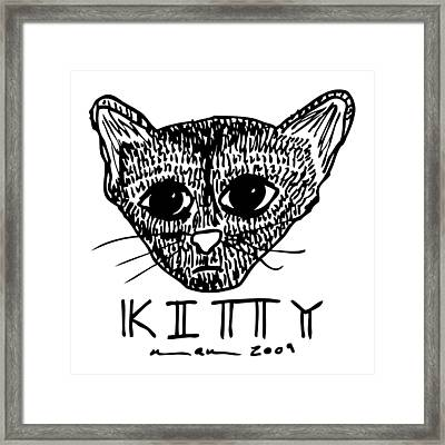 Kitty Kat Framed Print
