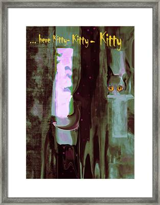 Kitty-kitty-kitty Framed Print